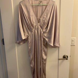 ASOS Lilac MIDI Dress in Satin